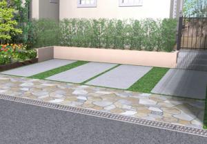 一戸建て 外構工事 駐車場 コンクリート