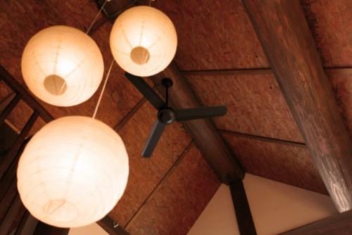 新築注文住宅玄関和風照明やインテリア