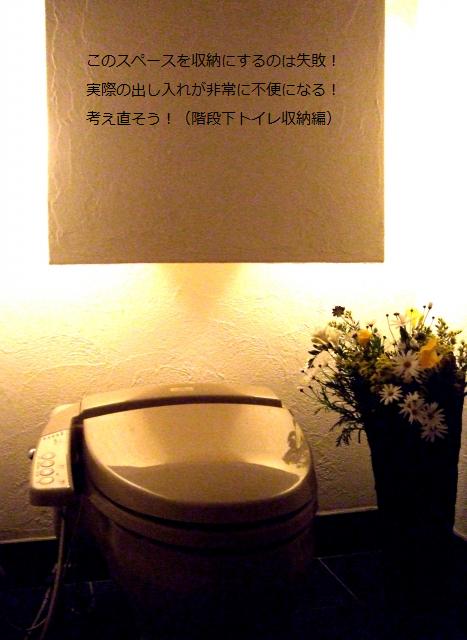 階段下トイレ 収納 失敗談