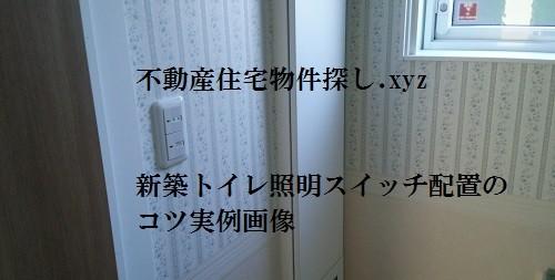 新築トイレ照明スイッチ配置実例画像WEB内覧会