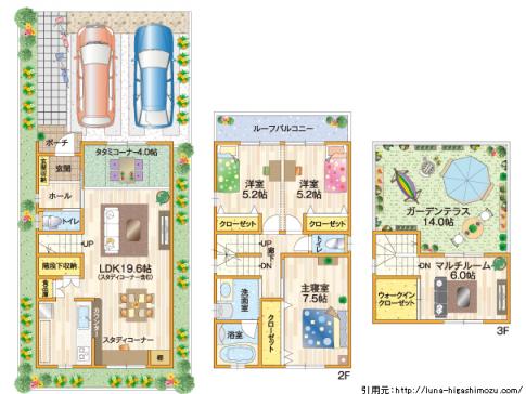 新築間取りトイレ位置や場所実例画像