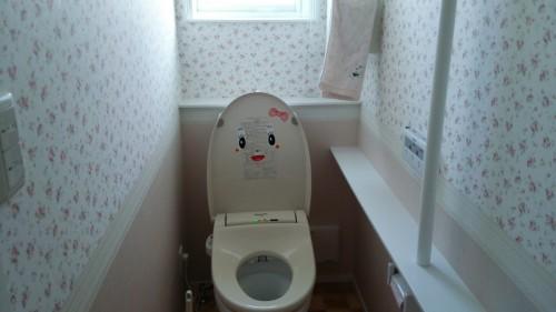 新築トイレの壁紙画像WEB内覧会