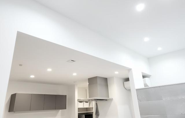 リビング照明LEDダウンライト配置