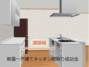 キッチン 間取り 家事動線 奥行