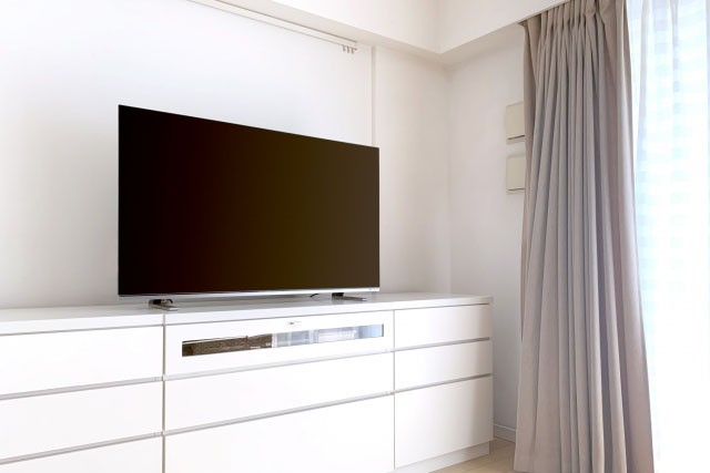 新築リビングコンセント配置注意点 テレビボードを基準に配置する