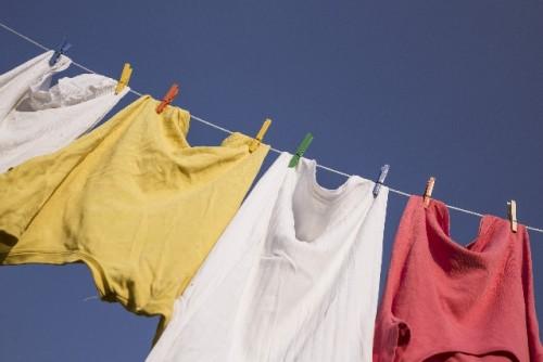 新築ウッドデッキ洗濯物物干し失敗