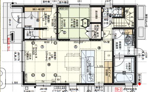 新築一戸建て注文住宅間取り図1階実例画像