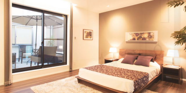 大安心の家内装寝室