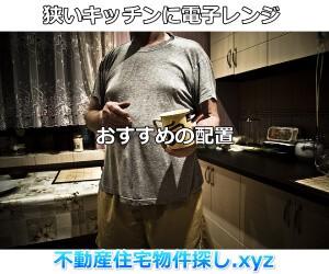 狭いキッチン電子レンジ配置