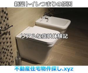 新築トイレつまりの原因