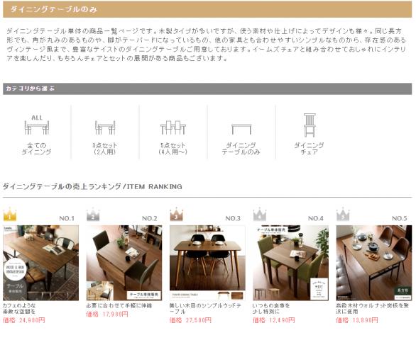 新築ダイニングテーブル通販おすすめサイト