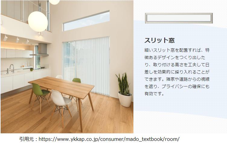スリット窓実例画像YKK