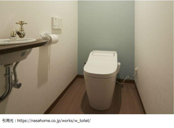 トイレアクセントクロス施工例